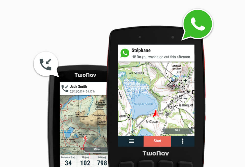 Receive notifications GPS smartphone